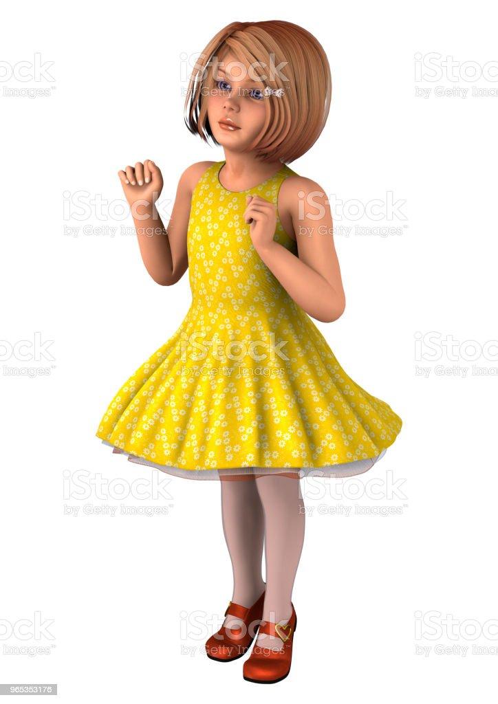 3D illustration fillette blanc - Photo de Allemagne libre de droits