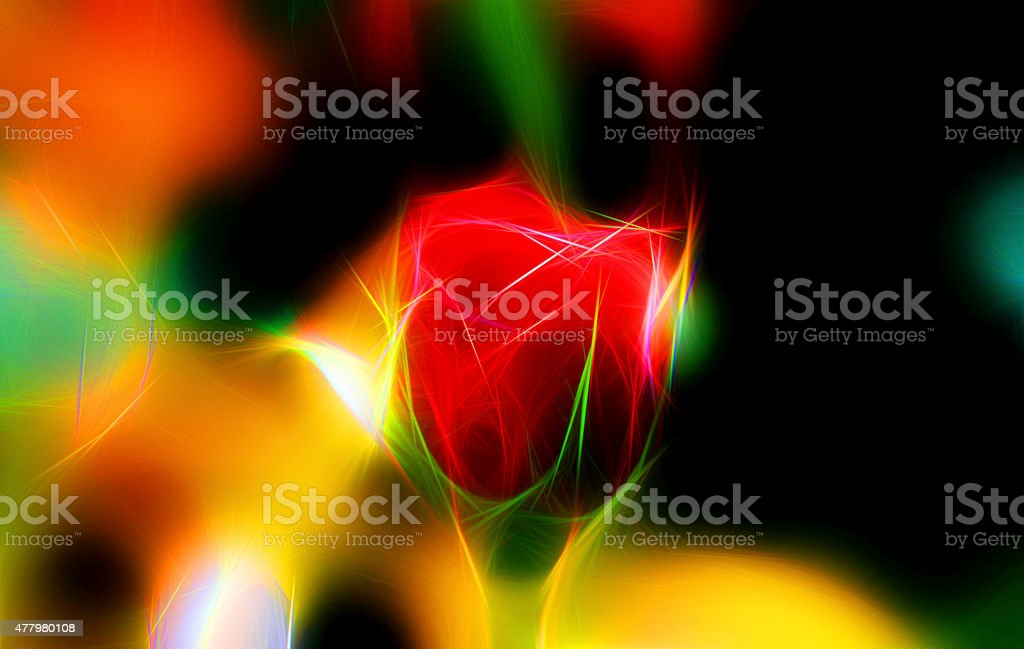 Illustration modern abstract red rose stock photo