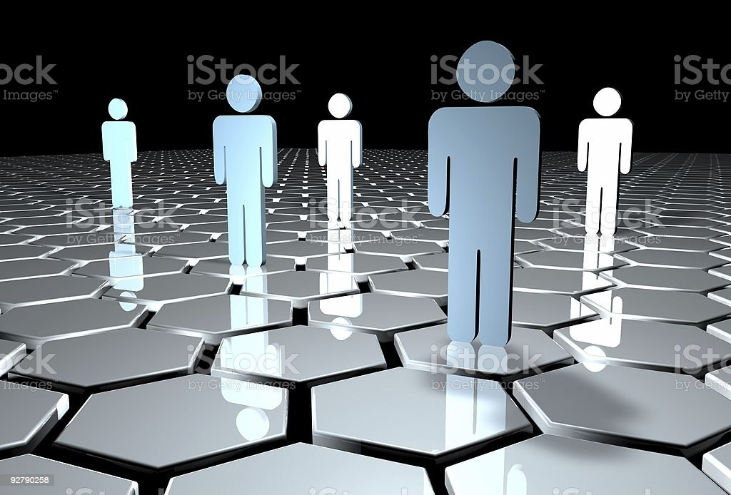 3D illustration of a business team royalty-free stock photo