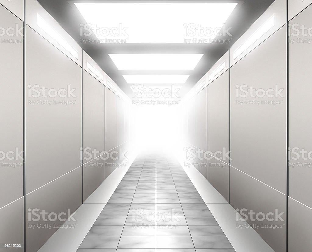 3 D Illustrazione di un corridoio foto stock royalty-free
