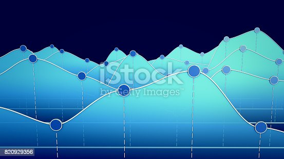 istock 3D illustration of a curve chart or line graph 820929356