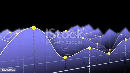 istock 3D illustration of a curve chart or line graph 820929422