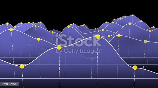 istock 3D illustration of a curve chart or line graph 820929510