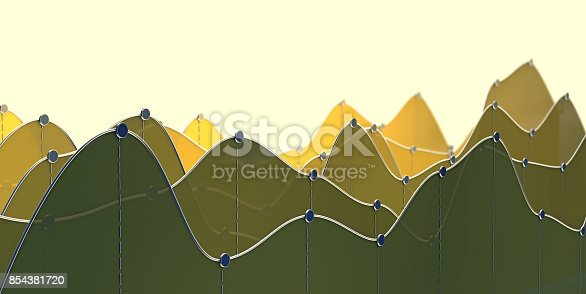 istock 3D illustration of a curve chart or line graph 854381720