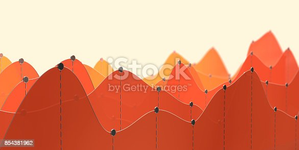 istock 3D illustration of a curve chart or line graph 854381962