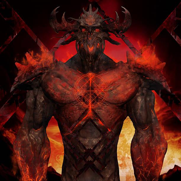3D illustration of a devil torso art. - Photo