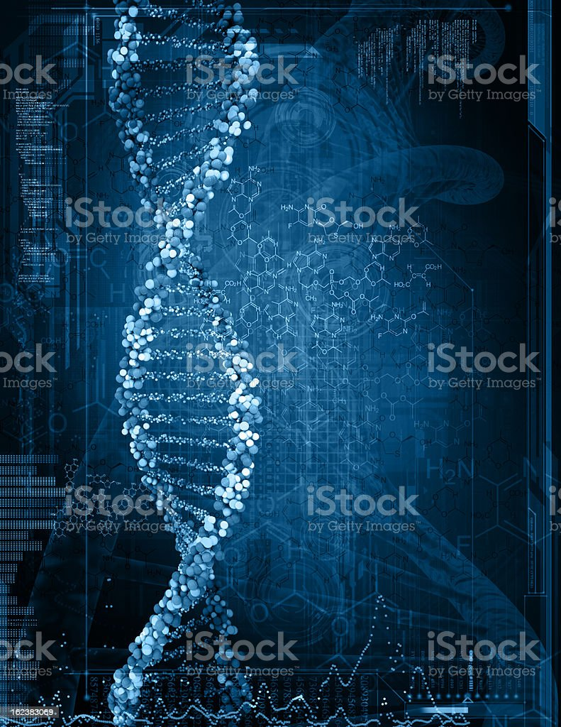 illustration of a dna royalty-free stock photo