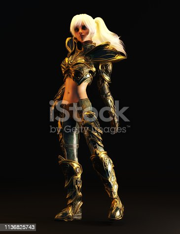 istock 3D Illustration of a Fantasy Woman 1136825743