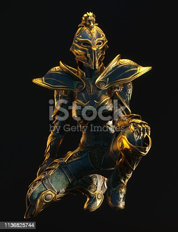 istock 3D Illustration of a Fantasy Woman 1136825744