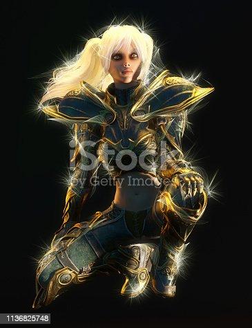 istock 3D Illustration of a Fantasy Woman 1136825748