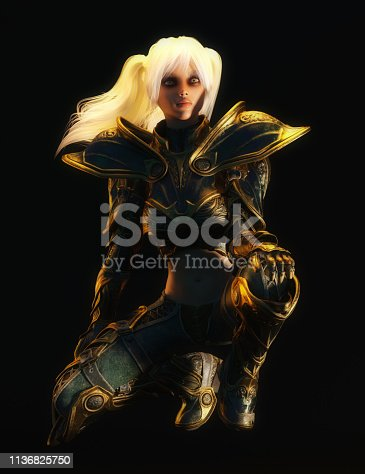 istock 3D Illustration of a Fantasy Woman 1136825750