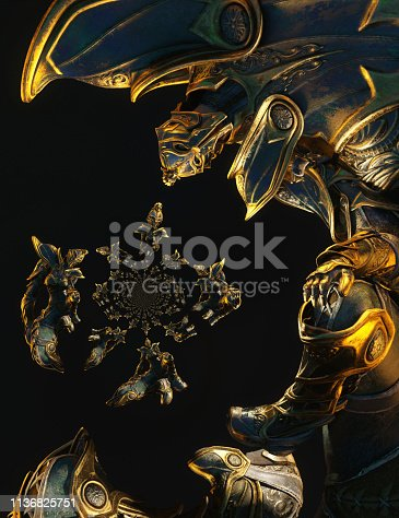 istock 3D Illustration of a Fantasy Woman 1136825751