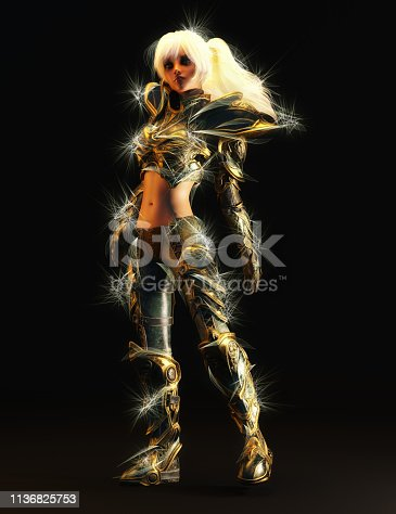 istock 3D Illustration of a Fantasy Woman 1136825753