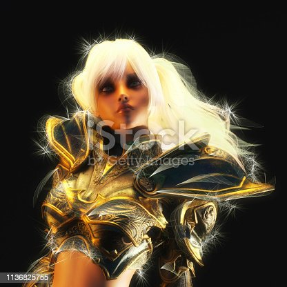istock 3D Illustration of a Fantasy Woman 1136825755