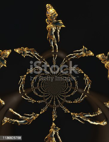 istock 3D Illustration of a Fantasy Woman 1136825758