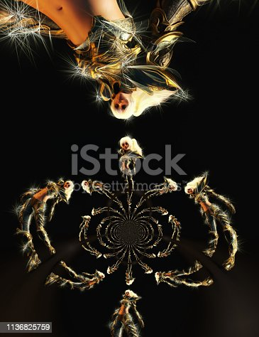 istock 3D Illustration of a Fantasy Woman 1136825759