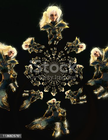 istock 3D Illustration of a Fantasy Woman 1136825761