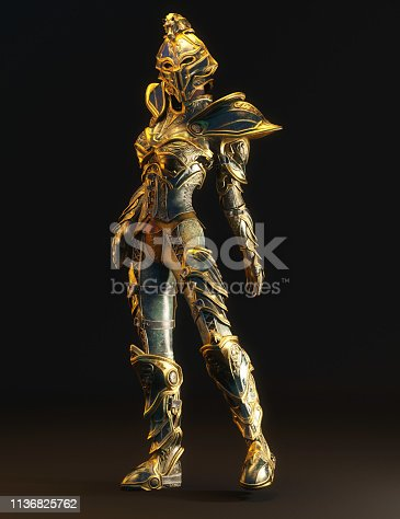 istock 3D Illustration of a Fantasy Woman 1136825762