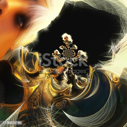 istock 3D Illustration of a Fantasy Woman 1136825766