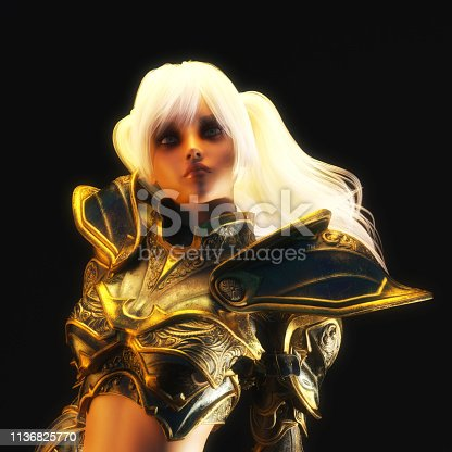 istock 3D Illustration of a Fantasy Woman 1136825770