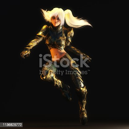 istock 3D Illustration of a Fantasy Woman 1136825772