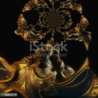 istock 3D Illustration of a Fantasy Woman 1136825773