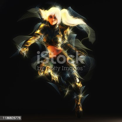 istock 3D Illustration of a Fantasy Woman 1136825775