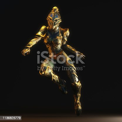 istock 3D Illustration of a Fantasy Woman 1136825779