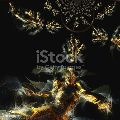 istock 3D Illustration of a Fantasy Woman 1136825782