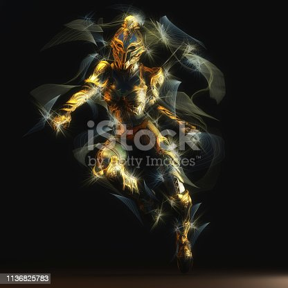 istock 3D Illustration of a Fantasy Woman 1136825783