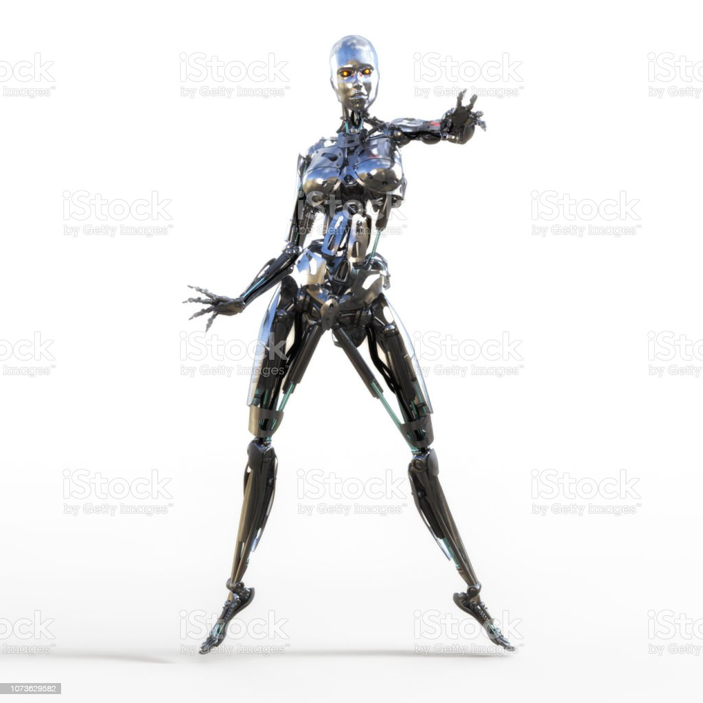 3d Illustration Of A Female Cyborg Stock Photo Download Image Now Istock