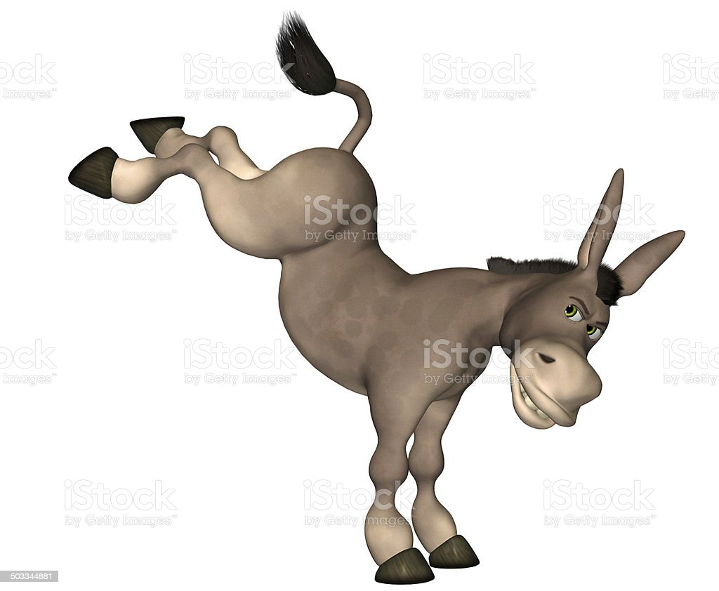 Illustration of a furious donkey stock photo