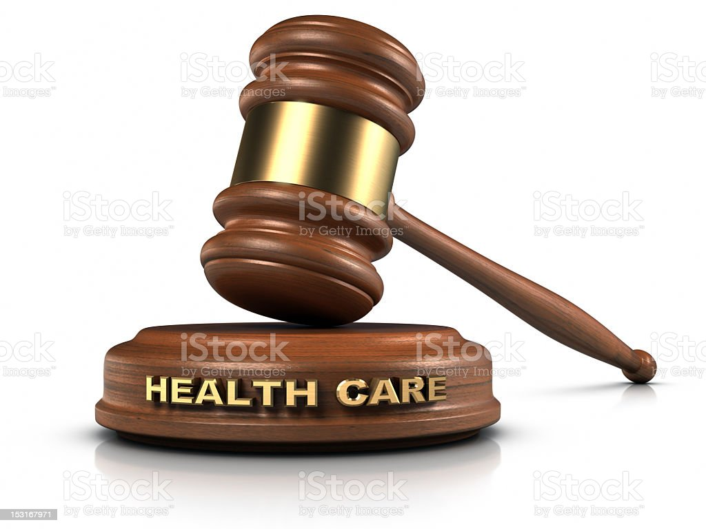 3D Illustration Of A Judges Gavel With The Word Healthcare Royalty Free Stock Photo
