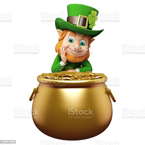 Illustration of a leprechaun with a pot of gold picture id187974357?b=1&k=6&m=187974357&s=612x612&h=z28007nzxzwrlmwfvuklxwzxpr8grxjscti5nwol9vi=