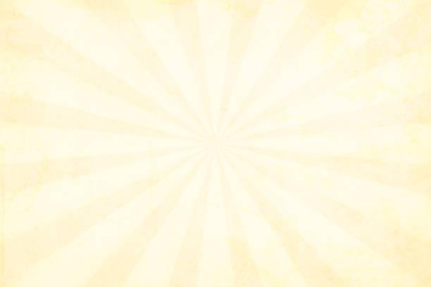 Illustration of a light yellow bright grunge Sunburst textured background- horizontal stock photo