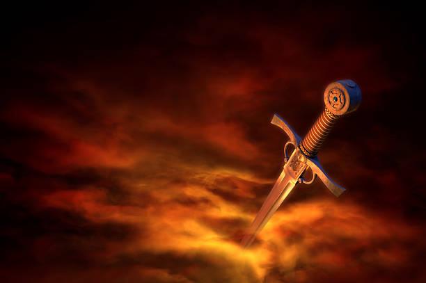 3 d ilustracja przedstawiająca średniowiecznego miecz - sword zdjęcia i obrazy z banku zdjęć