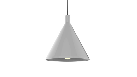 3D illustration of a pendant lamp