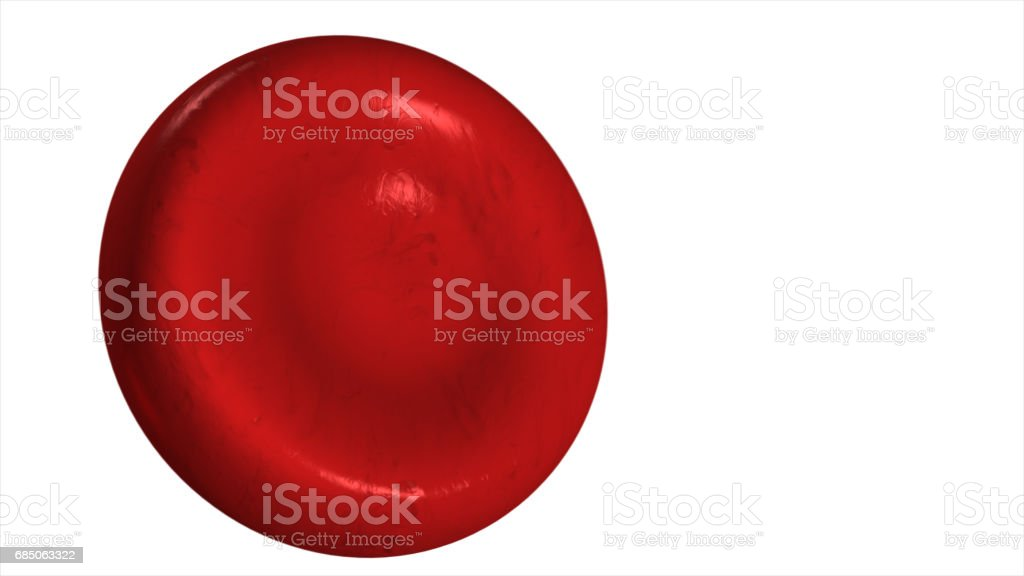 Illustration of a red blood cell isolated on a white background 3d illustration stock photo