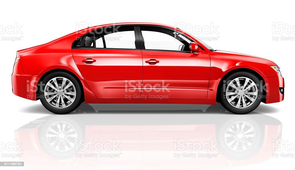 Beispiel für ein rotes Auto – Foto