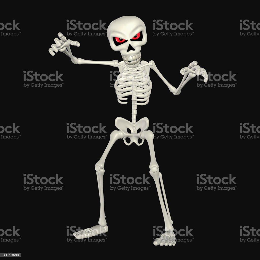 Fotografía de Ilustración De Dibujos Animados Scary Esqueleto y más ...