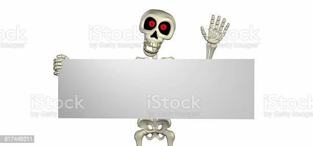 Illustration of a skeleton holding a sign picture id517445211?b=1&k=6&m=517445211&s=612x612&h=9gpfnqsrvzxkyxzrg2cjf1oggmpscsehm1vhonc3pu0=