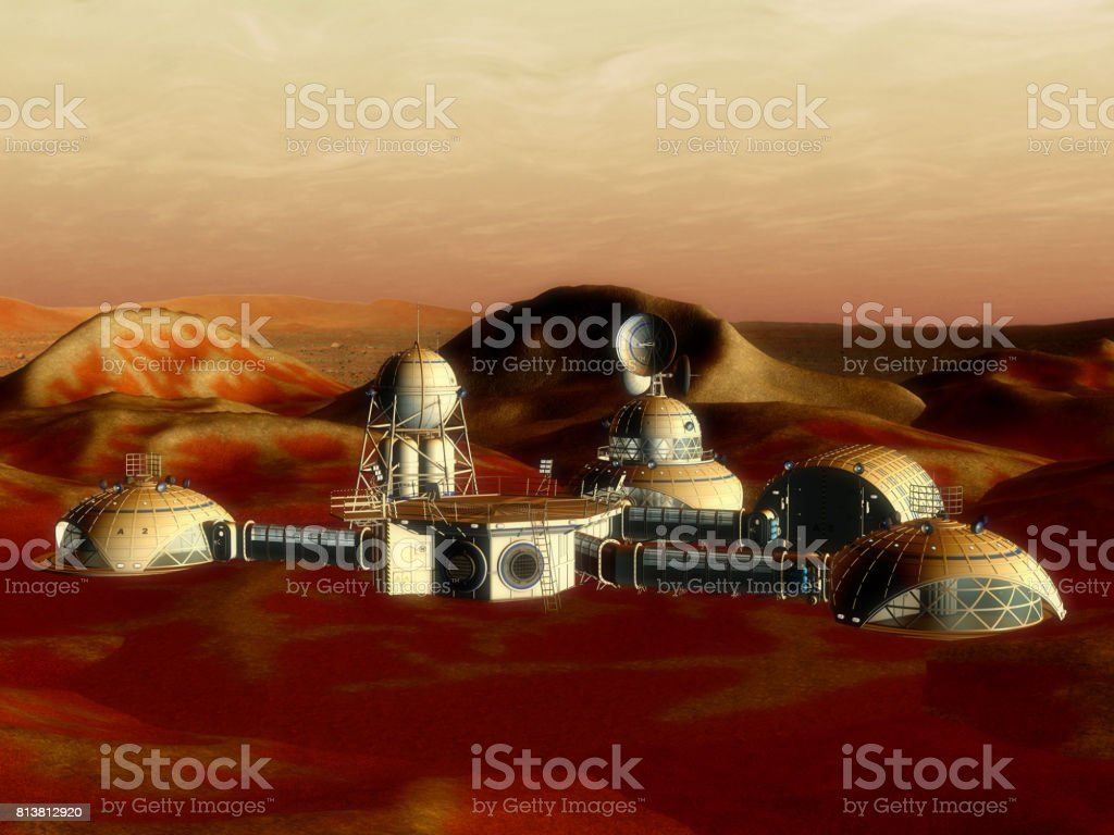 3D Illustration of a Space Station stock photo