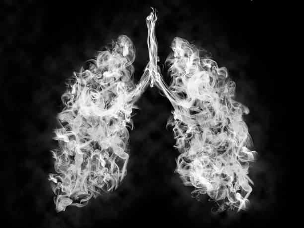 Illustration of a toxic smoke in Lung . cancer or illness concept Illustration of a toxic smoke in Lung . cancer or illness concept lung stock pictures, royalty-free photos & images