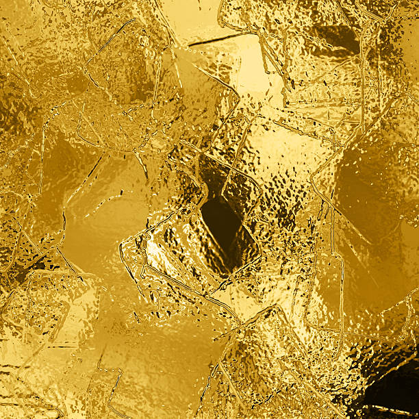 Illustration of abstract gold background stock photo