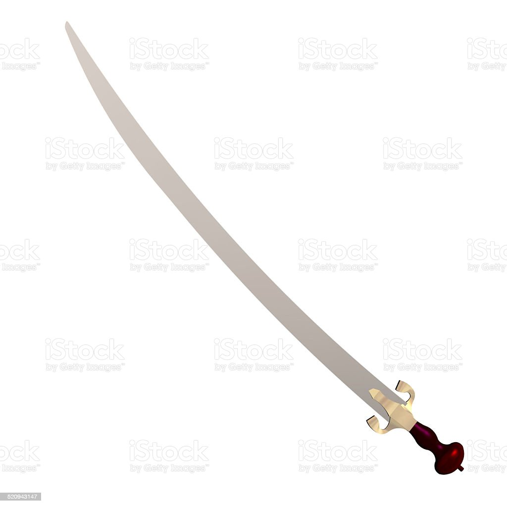 Illustration of an arabian scimitar stock photo
