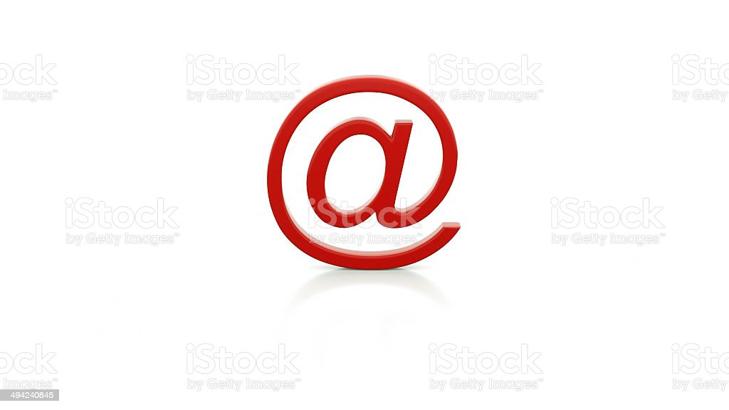 Illustration of an E-mail sign stock photo