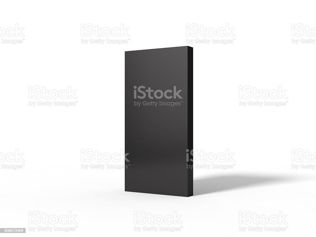 illustration of black monolith. stock photo