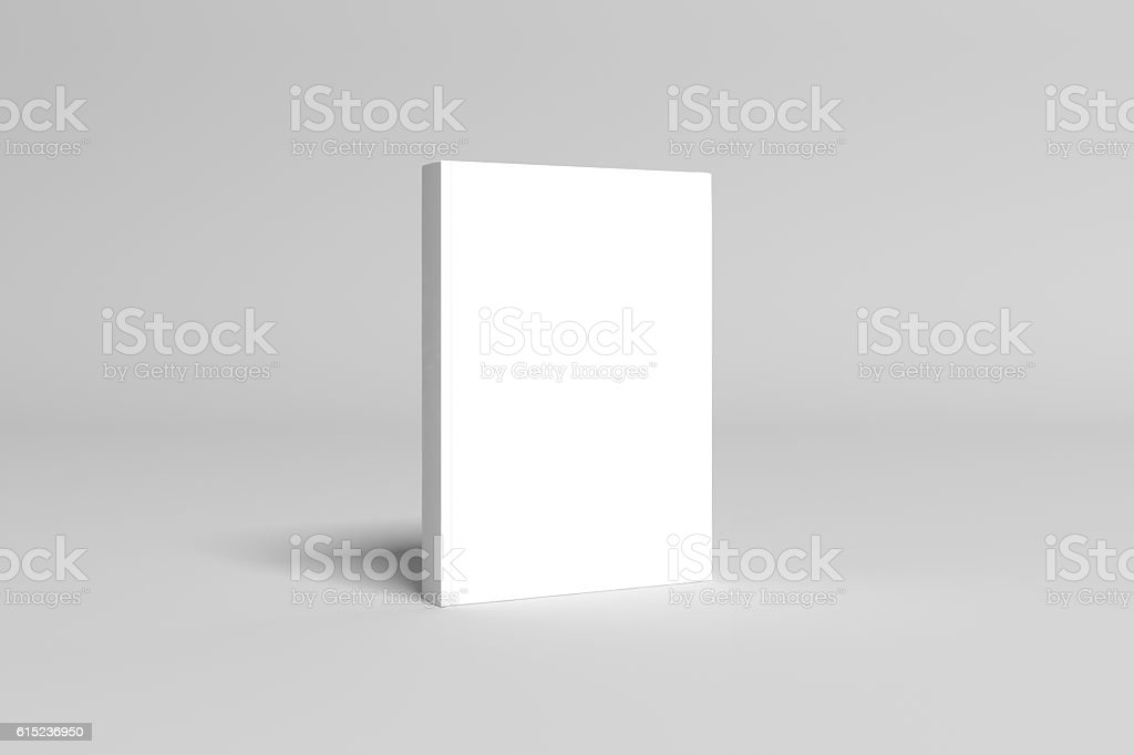 3D Illustration of blank Book Cover Mock-up - foto stock