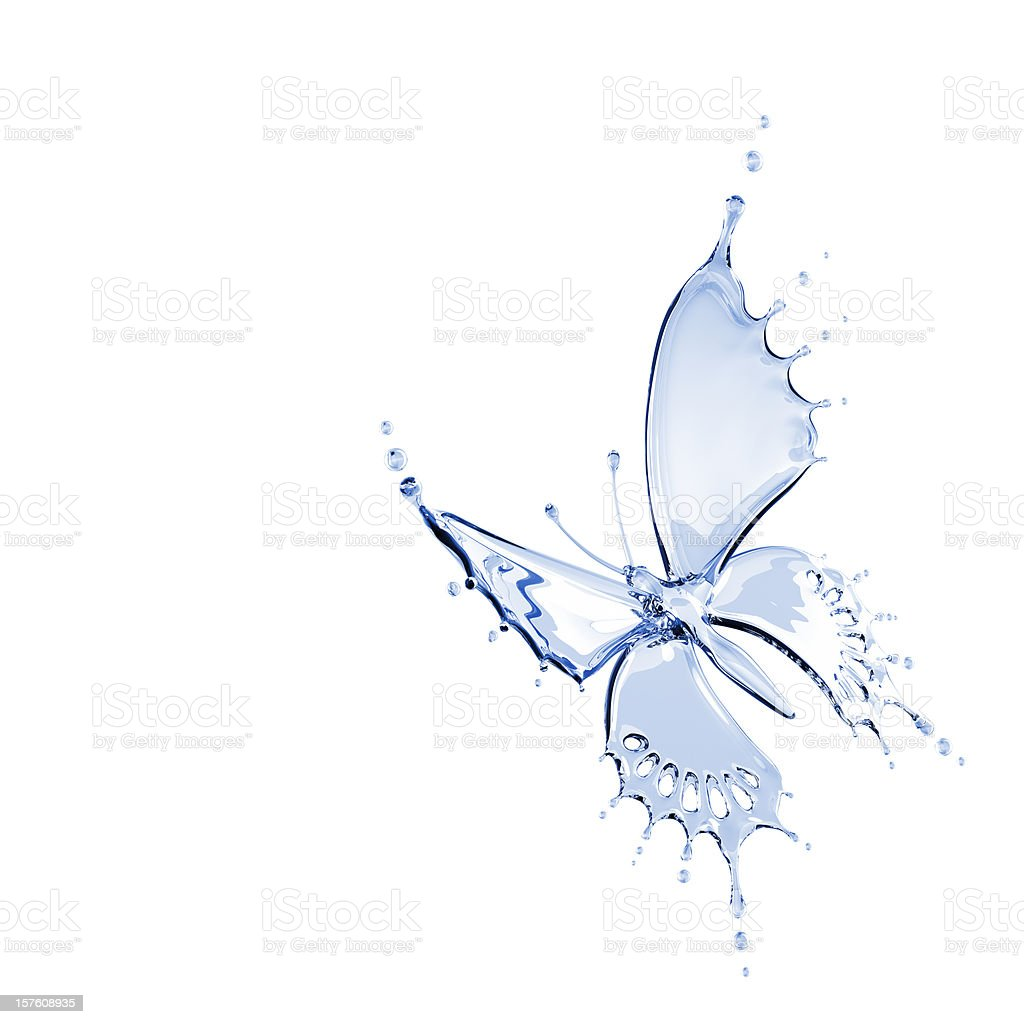 Illustration of butterfly made from water stock photo