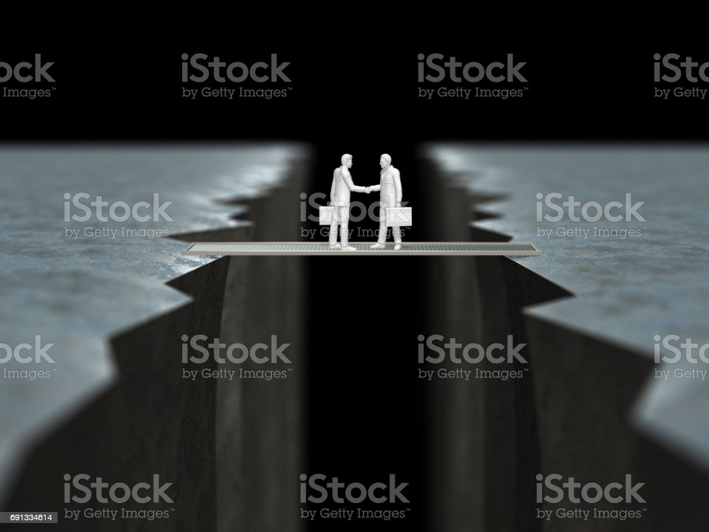3D illustration of cliff stock photo